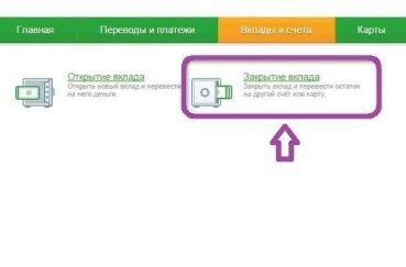 Как закрыть вклад в сбербанк онлайн и перевести деньги на карту сбербанка